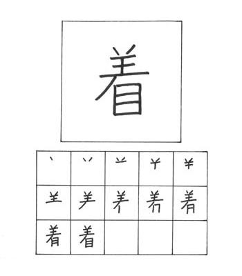 kanji tiba, mengenakan