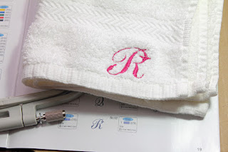 Monogrammed face towel.