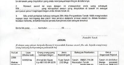 Tinta Bayu Borang H Dan Tindakan