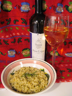rosemary risotto with white wine