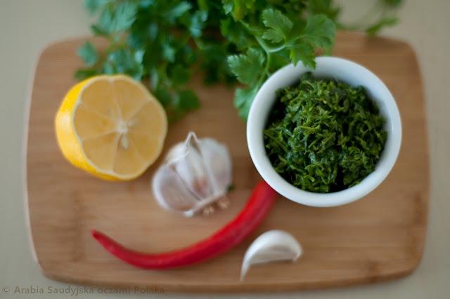 Chimichurri pasta lub sos z natki pietruszki
