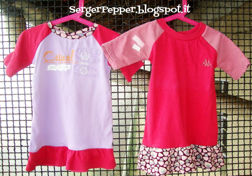 Pink refashion (FREE PATTERN) - Raglan Shirts with Skirt - Maglie ...