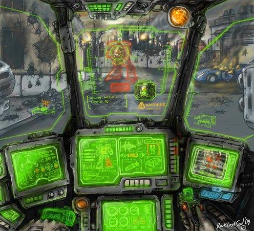 Mech cockpit por DarkLostSoul86