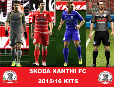 PES 2013 SKODA XANTHI FC 2015/16 KITS by argy