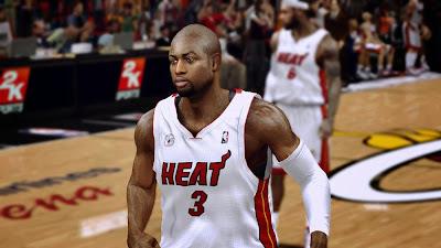 NBA 2K14 Dwyane Wade Bald
