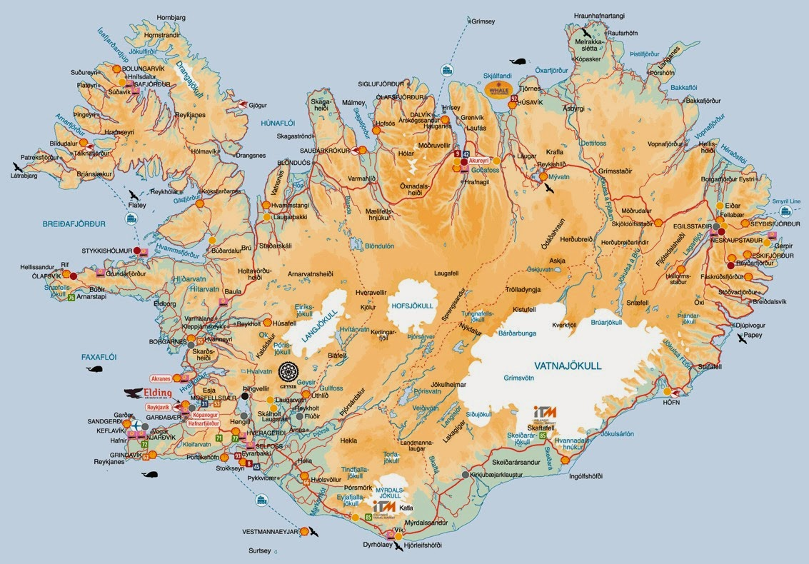 Iceland Map.