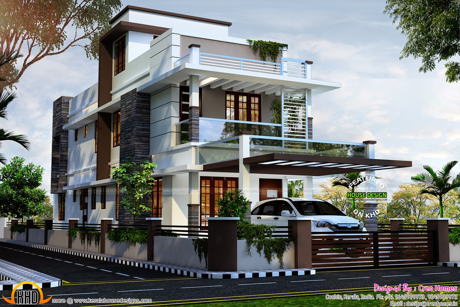 Contemporary House At Kottayam