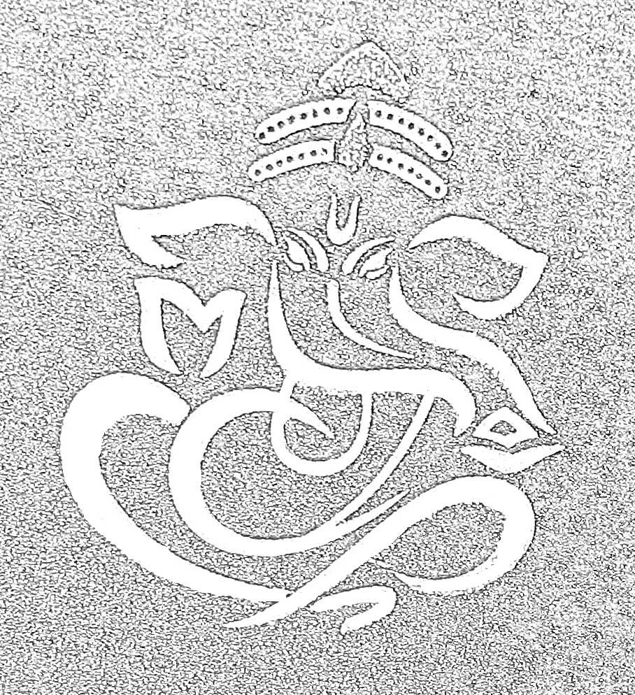 Simple Ganesha Drawings