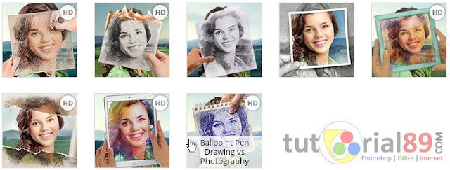Cara cepat membuat efek coretan pulpen pada foto