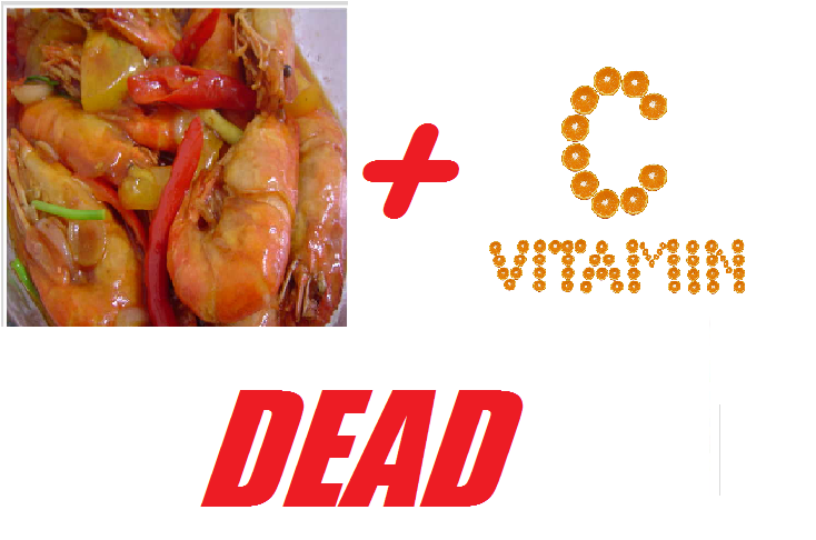 fakta udang dan vitamin c menyebabkan kematian at uniksekali97.blogspot.com