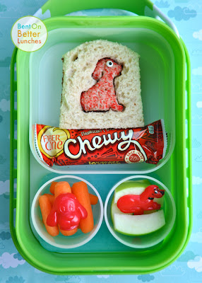 Clifford the Big Red Dog bento school lunch in yubo lunch box