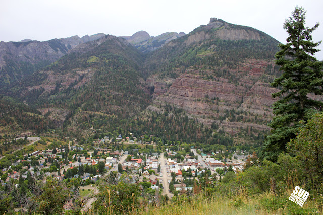 Ouray Colorado as seen from the Amphitheater Camp Ground