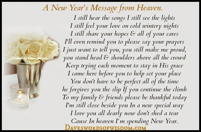 Daveswordsofwisdom.com: A New Year\'s Message from Heaven.