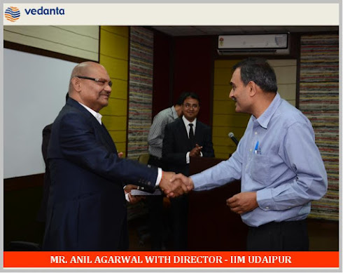 ANIL AGARWAL WITH DIRECTOR IIM UDAIPUR
