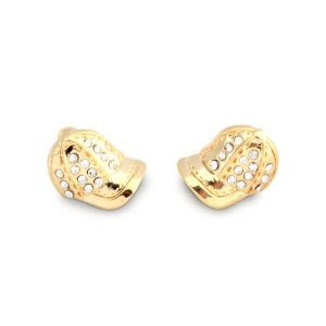 MLB Baseball Cap Hat CZ Gold Stud Earrings