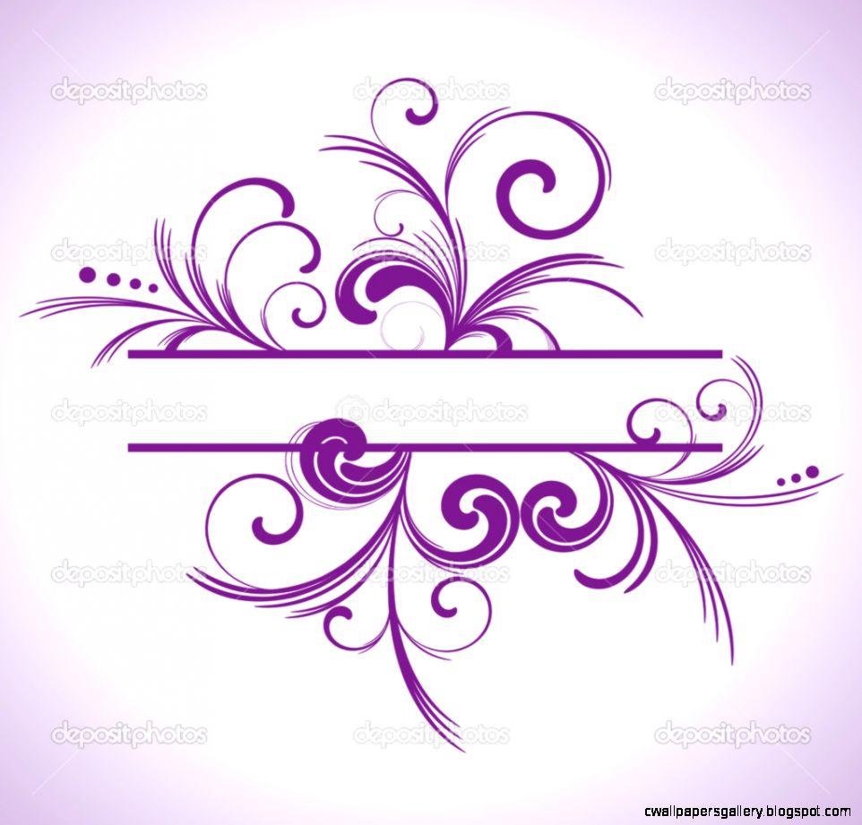 Purple Swirls Border Clipart   Clipart Kid