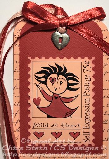 Pirouette Valentine digital stamp Tag Aty