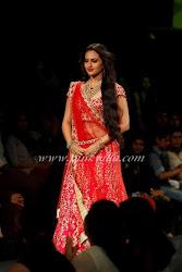Sonakshi Sinha walks the ramp for Jyotsna Tiwari at the Aamby Valley Bridal Fashion Week