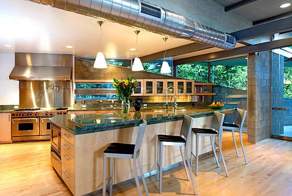 Dise o y decoraci n de la casa lindas cocinas modernas for Barra bar moderna