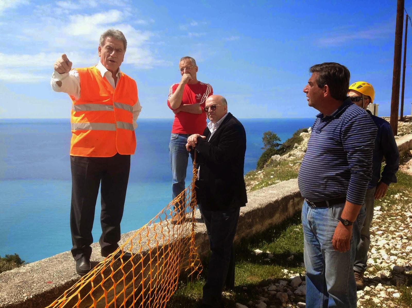 Στην Κεφαλονιά ο Περιφερειάρχης Ιονίων Νήσων – Επιθεώρηση στα έργα που εκτελούνται