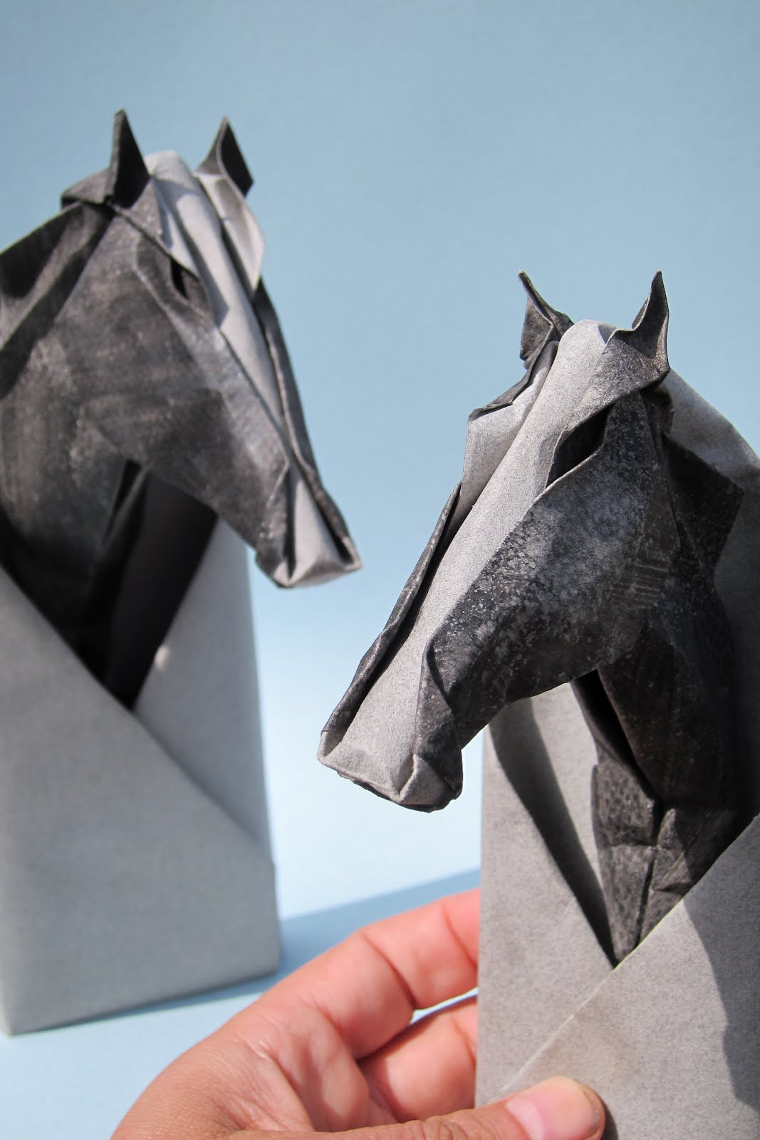 Horse Head Origami Sculptures Like These Have Been Shown At The BETA International Fair In Birmingham For Equestrian Crowd There Chi Mei