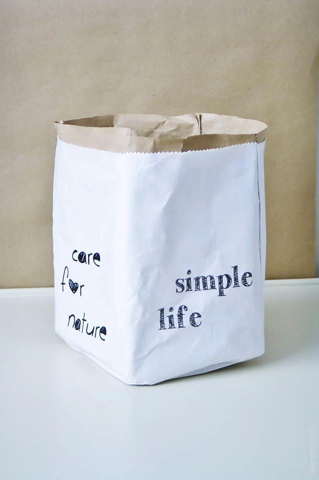 Saco de papel y tela diy con imprimibles hampton sc - Papel y telas ...