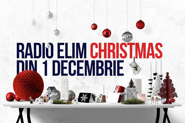 Radio Elim Christmas te colindă din 1 Decembrie!