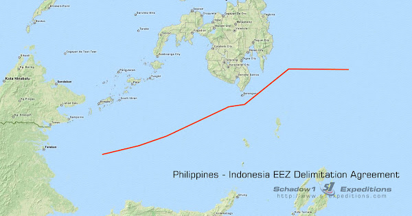 Philippines-Indonesia EEZ Delimitation Line - Schadow1 Expeditions