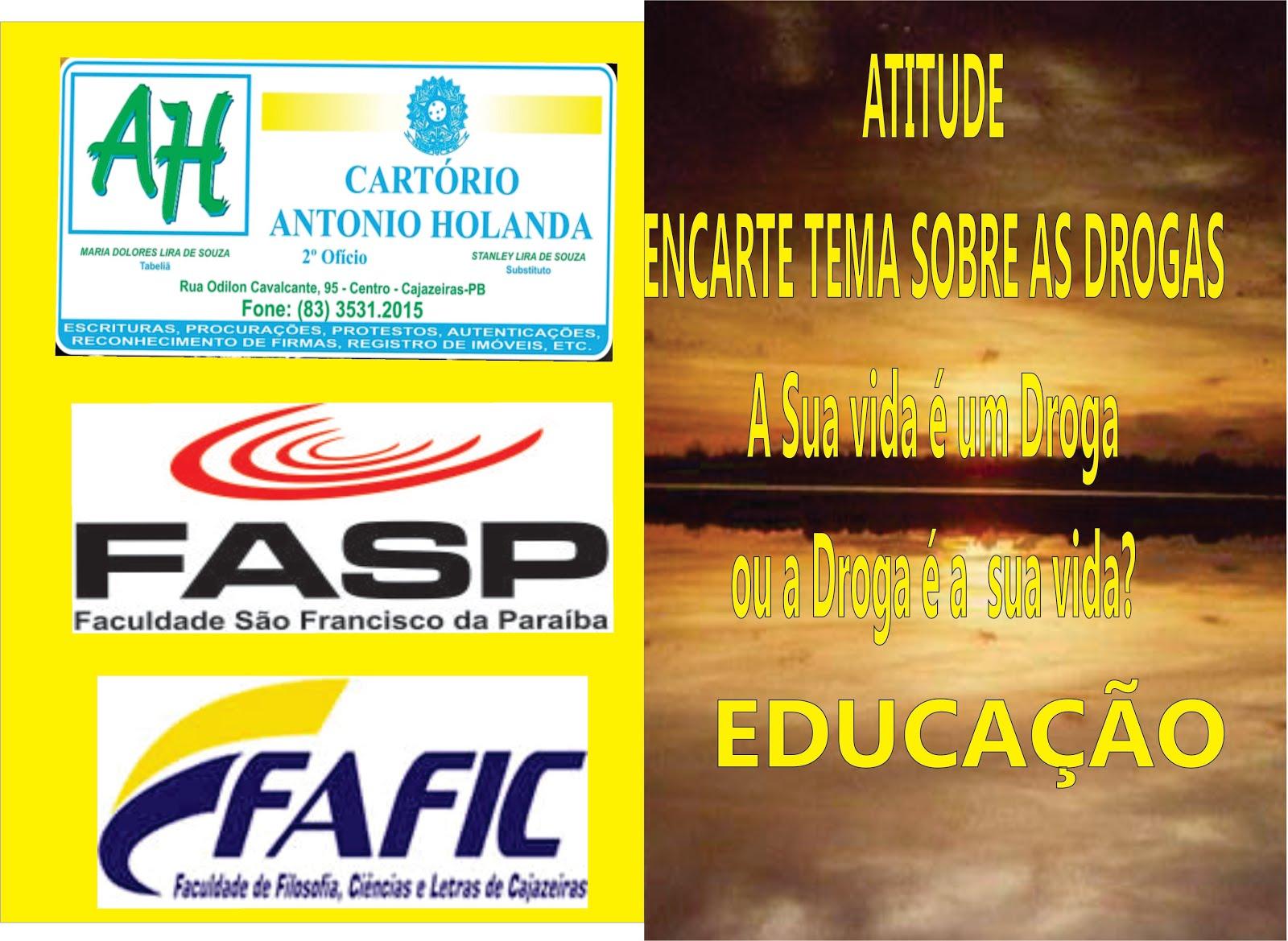 CAPA  DA  REVISTA SUPLEMENTAR  NO TEMA  DROGAS