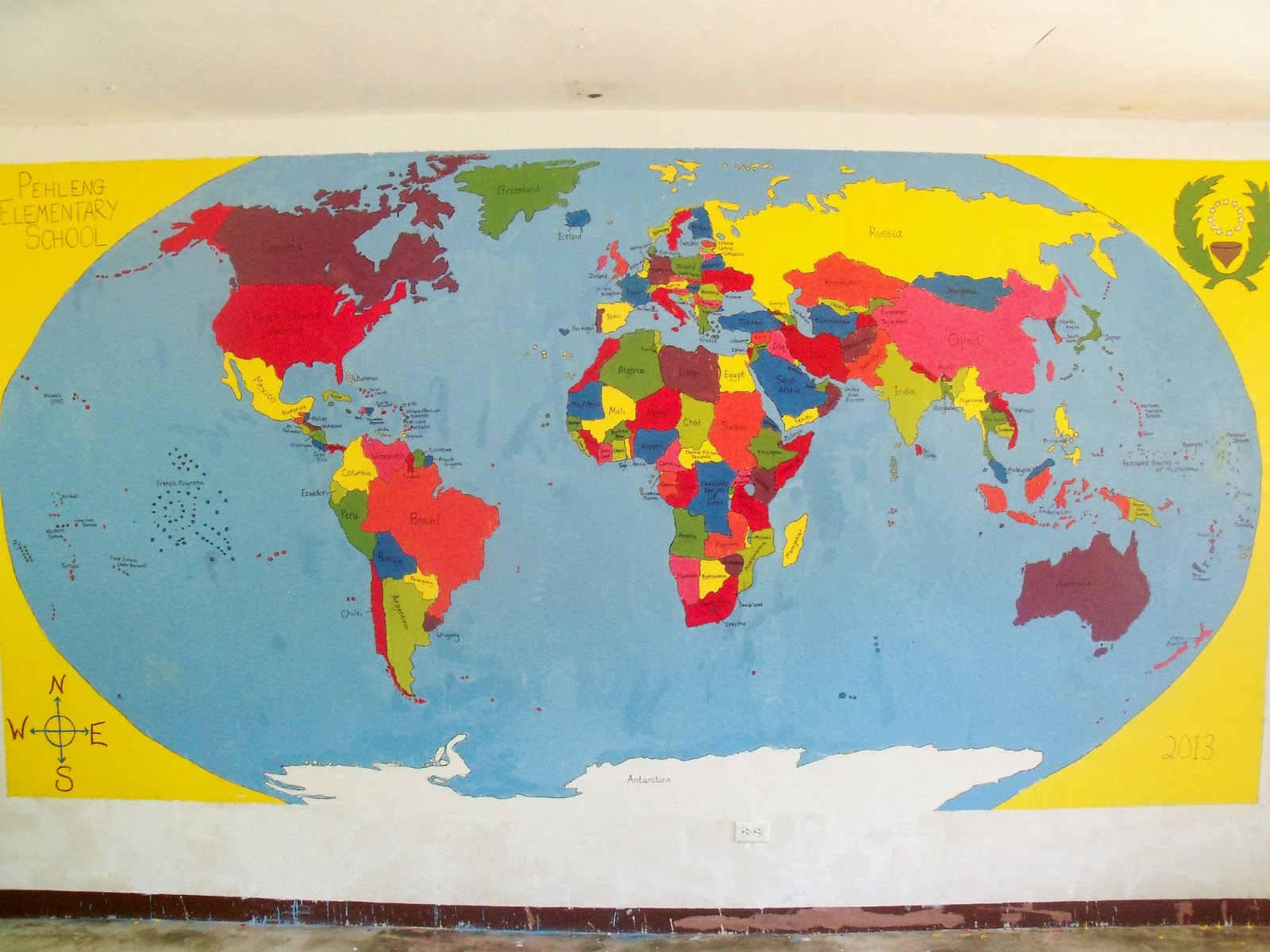 Once on this island september 2013 back during summer school my students got started drawing a giant map of the world on our classroom wall this is a project that a peace corps volunteer gumiabroncs Images