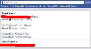 opsi pemulihan akun facebook email