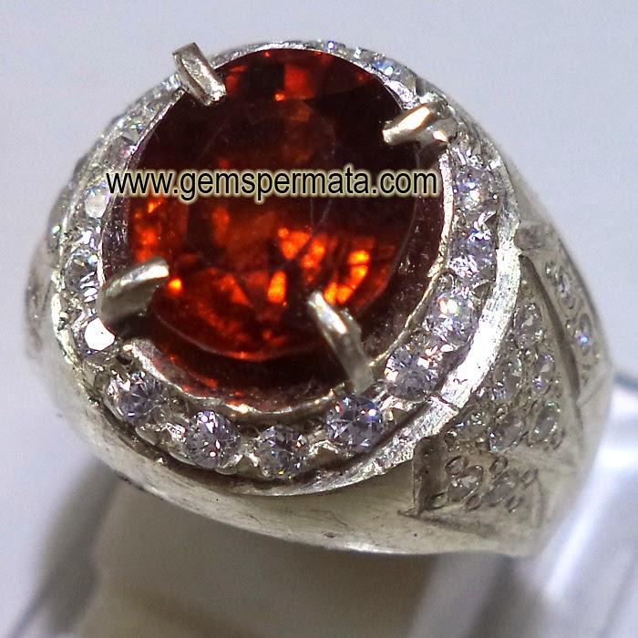 Cincin Batu Permata Spessartite Garnet Berkualitas
