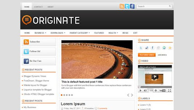 Originate Blogger Templates