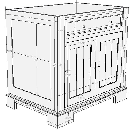 Woodwork plans for vanity cabinet pdf plans for Bathroom vanity plans