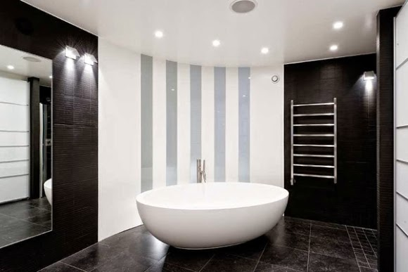 Contemporary black and white bathroom ideas designs for Black white bathroom ideas