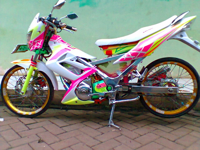 Modifikasi Motor Suzuki Satria FU 150 Full Chrome