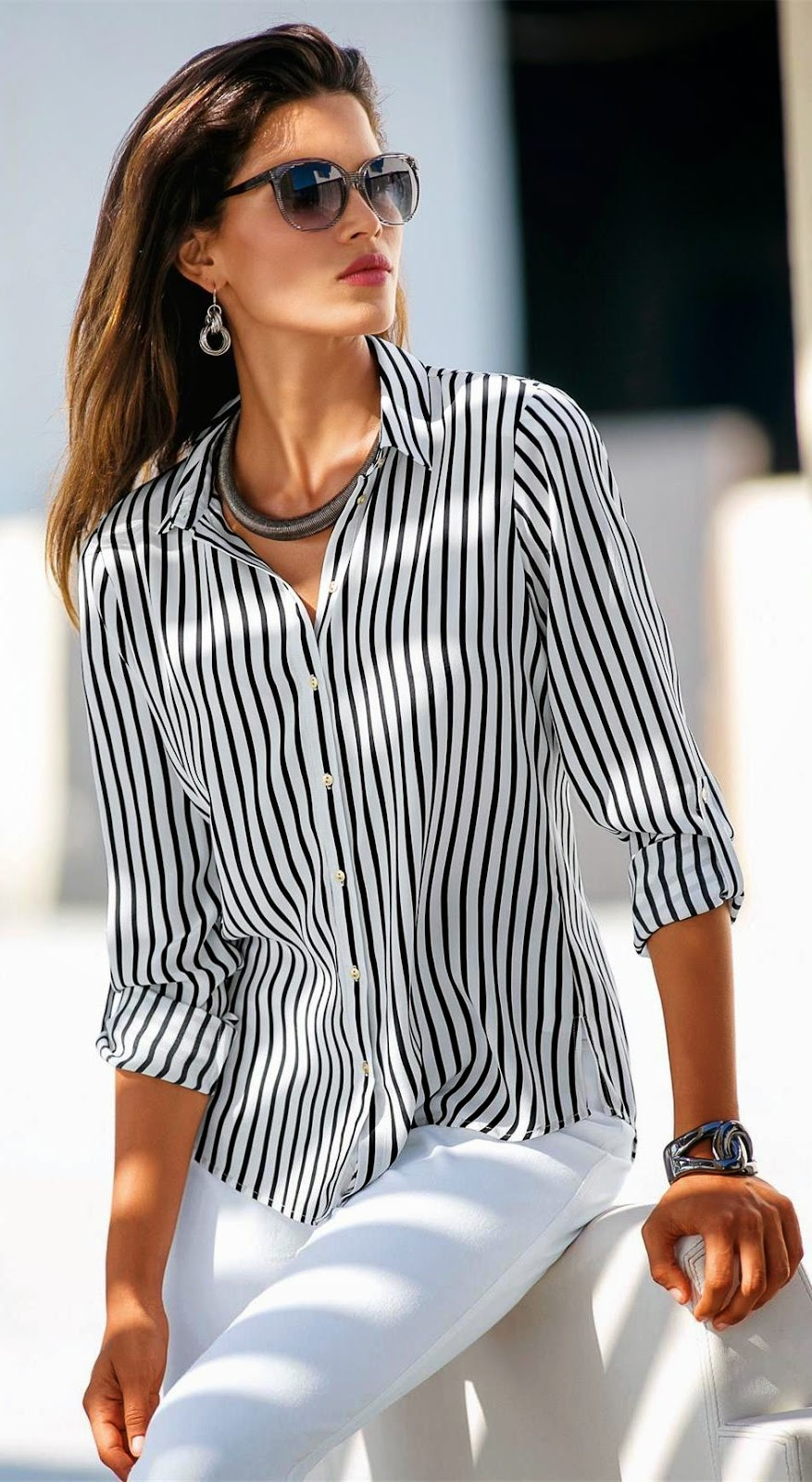 Madeleine Striped Blouse