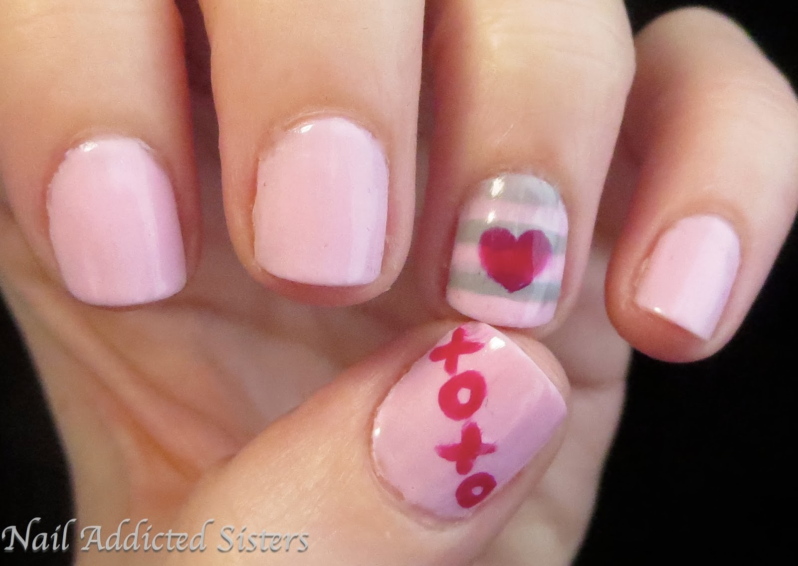 Nail Addicted Sisters Valentines Day Manis Double Time
