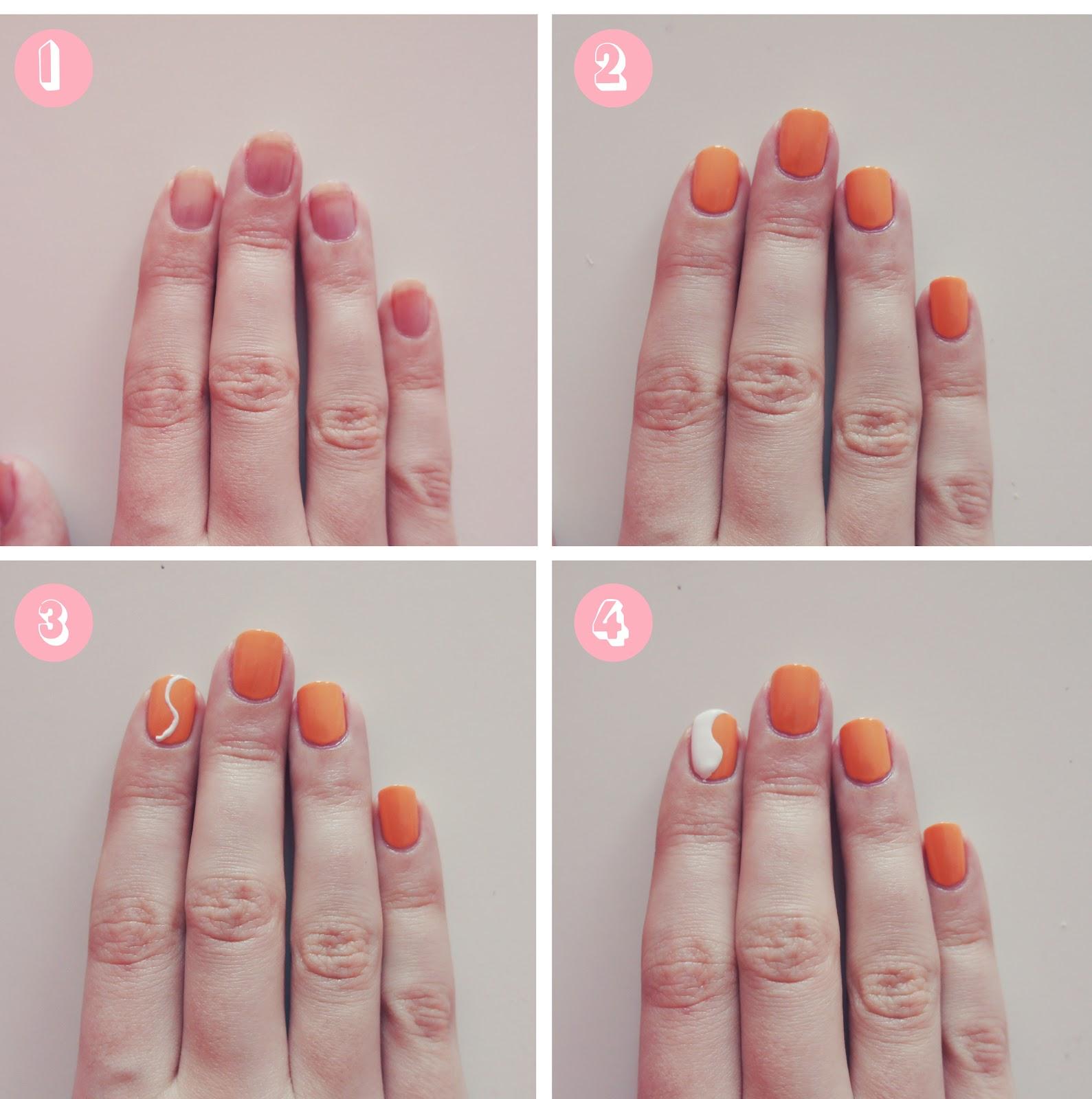pasel yin yang; nail art tutorial | CALVIROSE