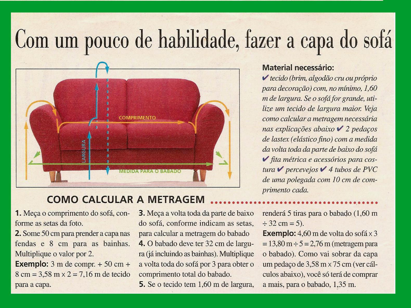 Eu Amo Artesanato: Capa para sofá #009C2B 1580x1184