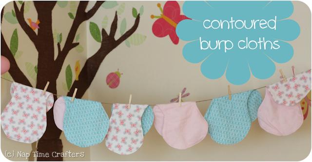 Tutorial Contoured Burp Cloths PeekaBoo Pages Patterns Mesmerizing Burp Cloth Pattern