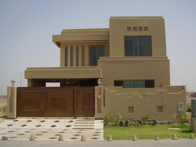Pakistani New Home Designs Exterior Views.