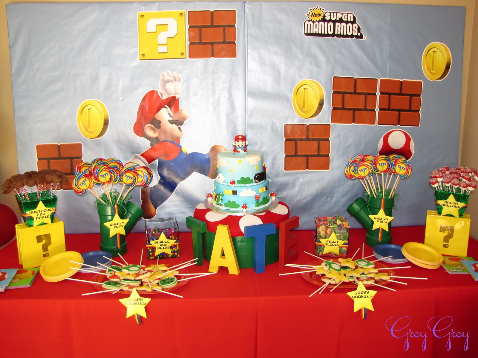 Super Mario Brothers Dessert Table Ideas
