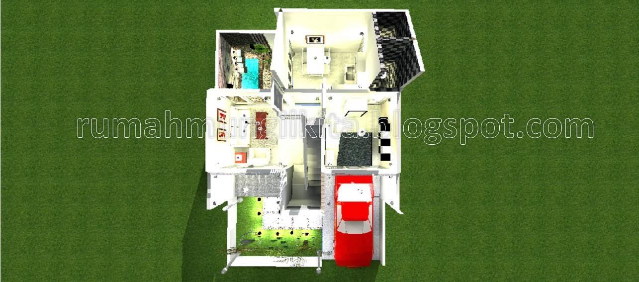 desain rumah tipe 54 tanah 70 m2 dengan 3 kamar tidur