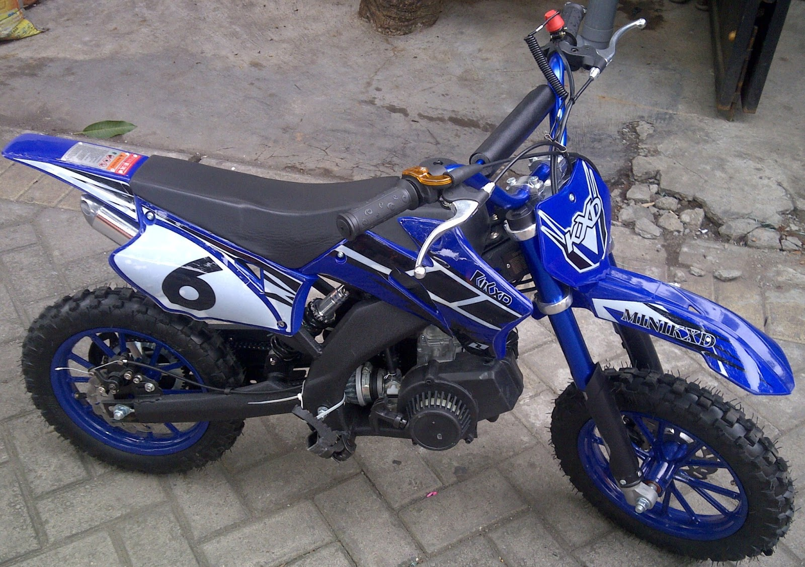 MOTOR TRAIL MINI KXD 50 CC MURAH INDONESIA 08155292046 RUMAH