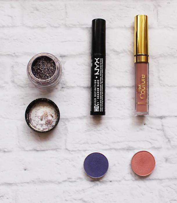 grey lilac makeup look inglot amc pure pigment 35 lasplash la splash ghoulish lip couture liquid lipstick fotd