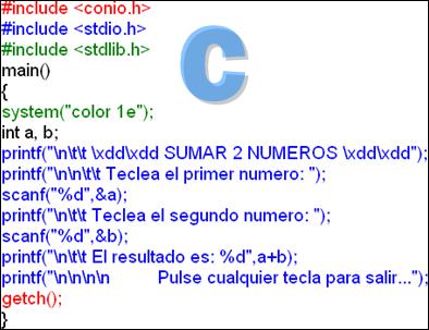 estructura de un programa en c: