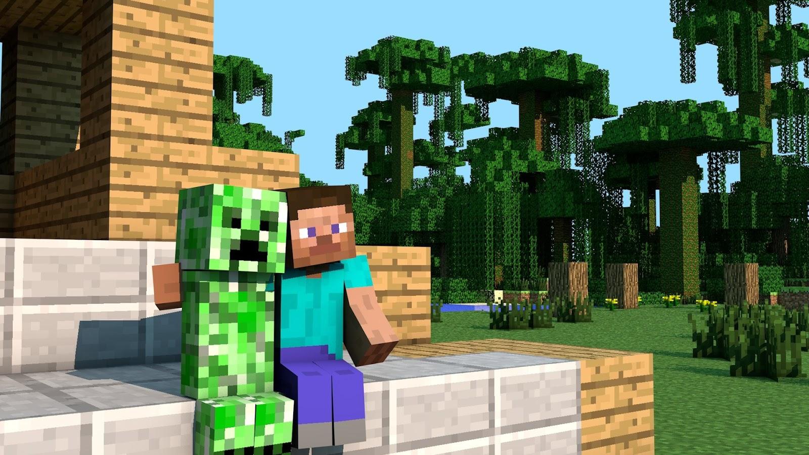 Fondos de minecraft steve y creeper - Minecraft creeper and steve ...