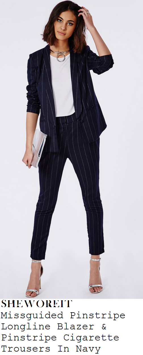 ferne-mccann-navy-and-white-pinstripe-blazer-and-trousers-suit