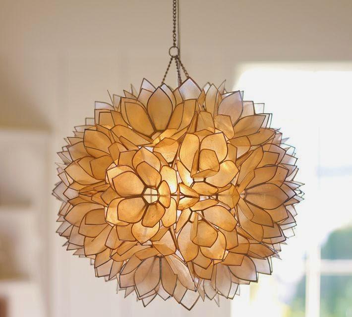 capiz flower chandelier diy